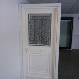 Porte d'entrée PVC couleur sable